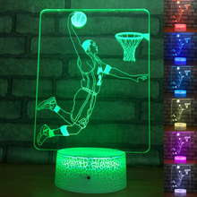 Sports Series Bedside Night Light for Kids Gifts Baby Sleeping Lighting 3D Basketball Player Table Lamp Led Nightlights Dancers
