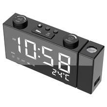 Многофункциональный светодиодный цифровой часы fm радио Проекция