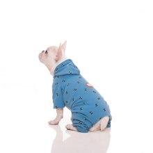 Осенне зимняя одежда для собак толстовка с капюшоном вельветовый