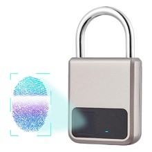 Fingerprint Padlock, Suitable for House Door, Bookcase, Suitcase, Backpack, Gym, Bike, Office, Support USB Charging(China)