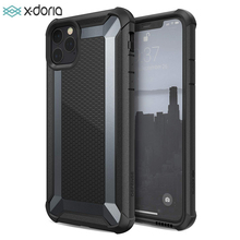 X doria defesa tático caso de telefone para iphone 11 pro max grau militar gota testado caso capa para iphone 11 pro capa de alumínio