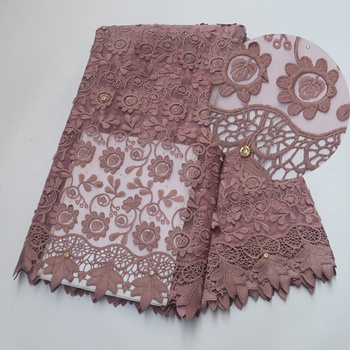 New 2019 Africa Lace Fabric French lace Embroidery With stone African lace High Quality Fabric Used for women Wedding dress