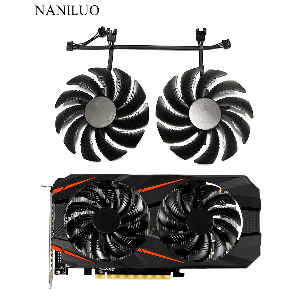 T129215SU 88mm For GIGABYTE GTX1050 Ti 1060 1070 Ti 1080 RX 470 480 570 580 Fan PLD09210S12HH  Fan G1 Graphics Card Cooling Fan