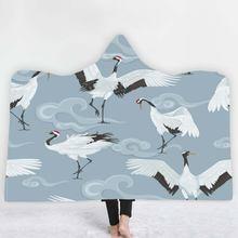 Животные redcrowned кран с капюшоном Одеяло Портативный зимние
