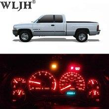 WLJH – jauge de groupe de tableau de bord, 20x7 couleurs, indicateur d'ampoule de tableau de bord, Kit d'éclairage Led complet pour Dodge Ram 1500 2500 3500 1994 - 2001