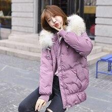 New Short Winter Jacket Women Thickening Warm Outerwear Parkas Female Cotton Padded Loose Coats Hooded Plus Size XXXL стоимость