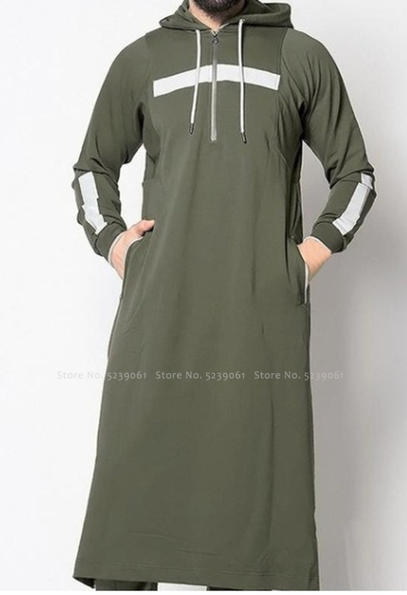 Men Jubba Thobe Arabic Islamic Clothing Muslim Dress Saudi Arabia Long Robe Abaya Dubai Loose Blouse Kaftan Sweater Hoodies Tops Men cb5feb1b7314637725a2e7: black|gray|Green|White