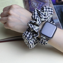 Plaid Hair Scrunchies and Watch Band Pack Cotton Scrunchie Stand Hair Bands Girls Hair Ties Ponytail Holders Hair Accessor