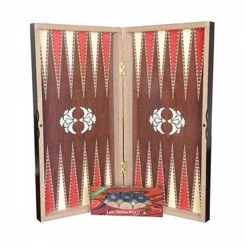 De Madera juego de habilidad de Backgammon turco, otomano juego de gran tamaño 48x48 tamaño personalizado diseño de Backgammon - 4