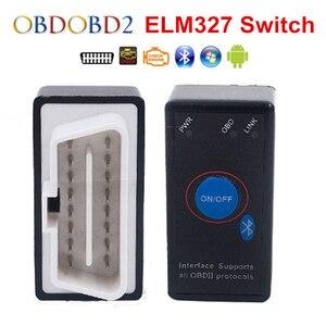 Image 4 - סופר מיני ELM327 Bluetooth ELM 327 כוח מתג V2.1 על/כיבוי לחצן OBD2 רכב אבחון כלי רב שפות עבור OBDII פרוטוקולי