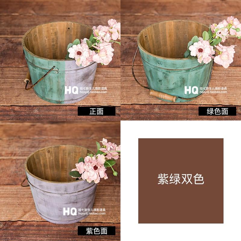 Newborn Photography Props basket Baby Photography Basket Infant wood Photo Studio  Accessories  Children basket