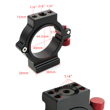 1/4 Schroef Expansie Ring Extension Microfoon Led Video Licht Montage Clip Adapter Voor Zhiyun Crane 2 Gimbal Accessoires