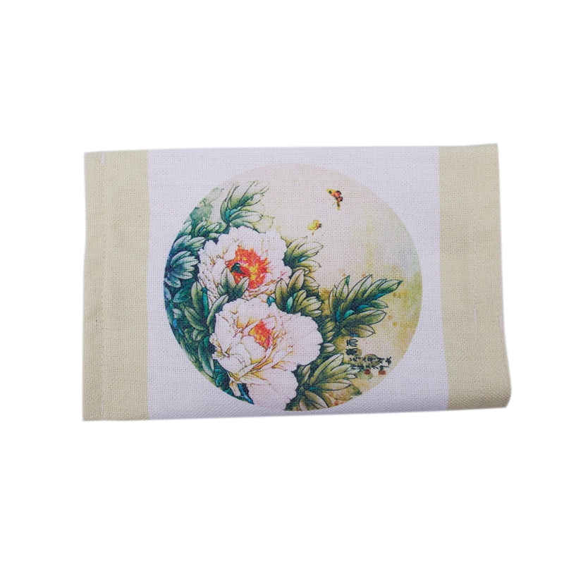 Foldable Tissue Holder With Environmental Digital Printing Cotton Linen Tissue Box Cover Car Living Room Decoration (green Beige