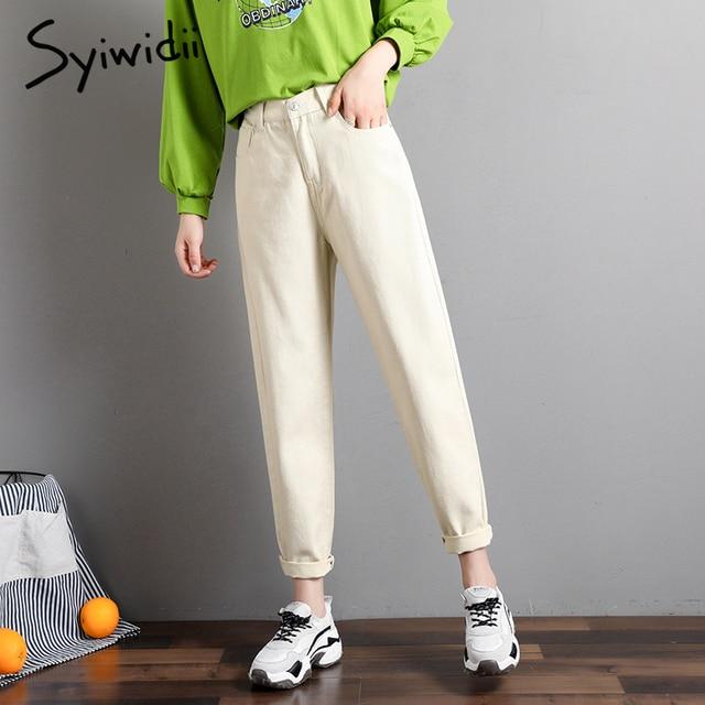 elastic waist black jeans korean fashion   4