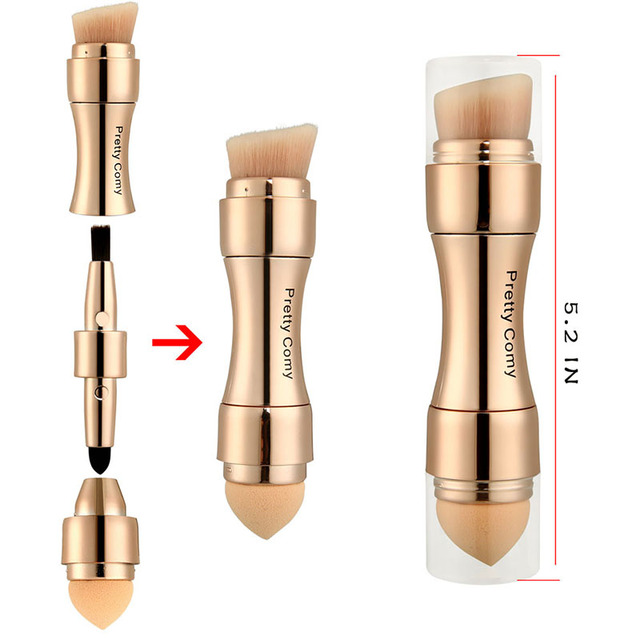 4 In 1 Makeup Brushes Foundation Eyebrow Shadow Eyeliner Blush Powder Brush Cosmetic Concealer Professional Maquiagem 1