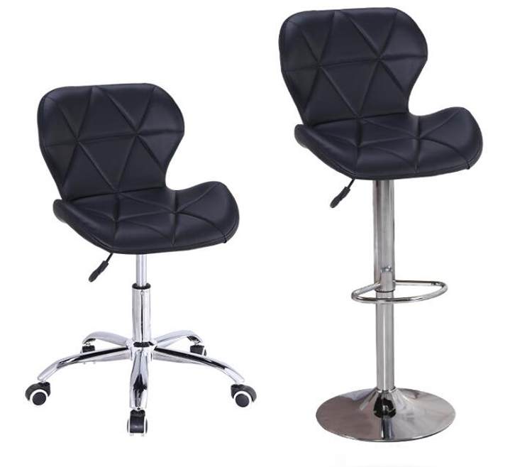 Nordic Bar Stool Simple Leather Office Chair Swivel Bar Chair Computer Chair Home Office Chair Lifting Bar Chair