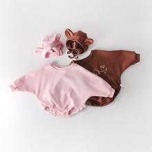 Niemowlę Boys Baby dziewczyny pajacyki ubranka dla dzieci niedźwiedź długi rękaw z nadrukiem pajacyki jesień zima Boys Baby dziewczyny zagęścić pajacyki tanie tanio Facejoyous COTTON Moda HJL2020136 Drukuj O-neck Body Unisex Pełna Pasuje prawda na wymiar weź swój normalny rozmiar