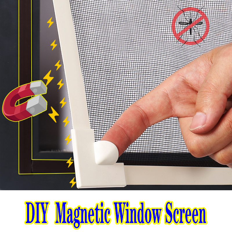 Insect Tulle DIY Customize Magnet Magnetic Window Screen Windows Removable Washable Invisible Fly Mosquito Screen Tape Net Mesh 1