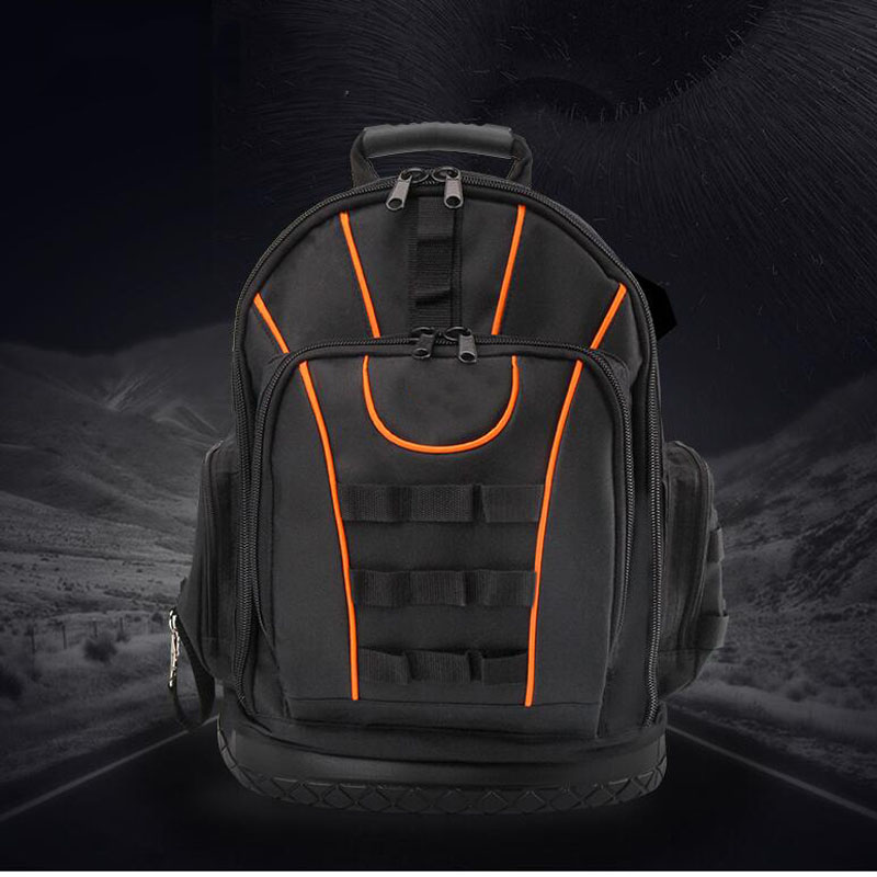 Tool Backpack Oxford Canvas Backpack Tool Bag Multi-function Kit Storage Bag Electrician Repair Backpack Hardware Kit Belt Box