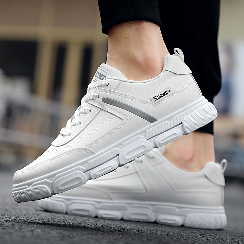 Stylish Skateboarding Shoes For Men Casual Sneakers Sports Shoes Men Outdoor Breathable White Walking Shoes Chaussure Homme