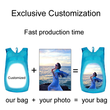 Customize the image Backpack Photo Printing Lightweight  Foldable diy bag Men Women Travel Shopping Sport Bag pouch