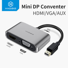 Cabo sd do conversor 4 k para a superfície pro do ar do macbook da apple hagbris mini displayport para hdmi adaptador vga thunderbolt 2(China)