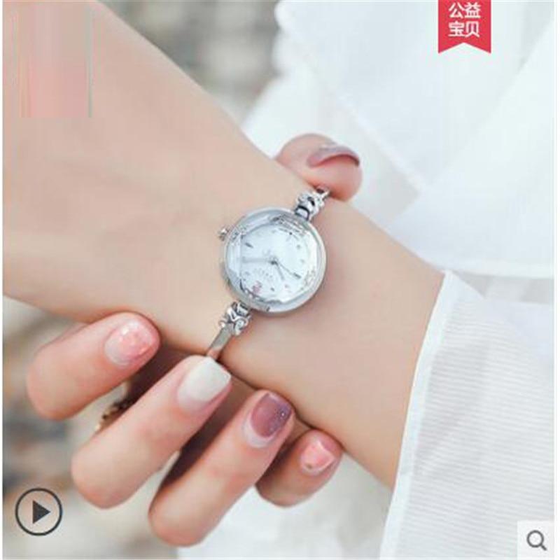 Lucky Watches Women Fashion Bracelet Watch Ladies watch waterproof temperament  Stainless Steel Wrist Watches