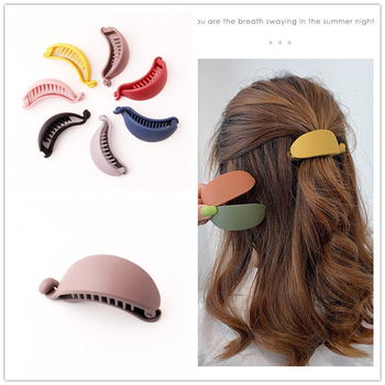 Hot Ins Solid Hairpins Rubber Color Banana Hair Clip For Women Korean Brand Twisting Clips Ponytail Holders Headwear Accessories