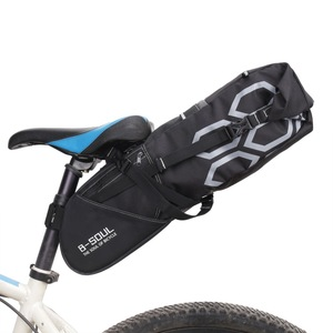 B-SOUL 12L Bicycle Luggage Bag Large Capacity Bike Saddle Tail Seat Waterproof Storage Bags Cycling Rear Packing Panniers(China)