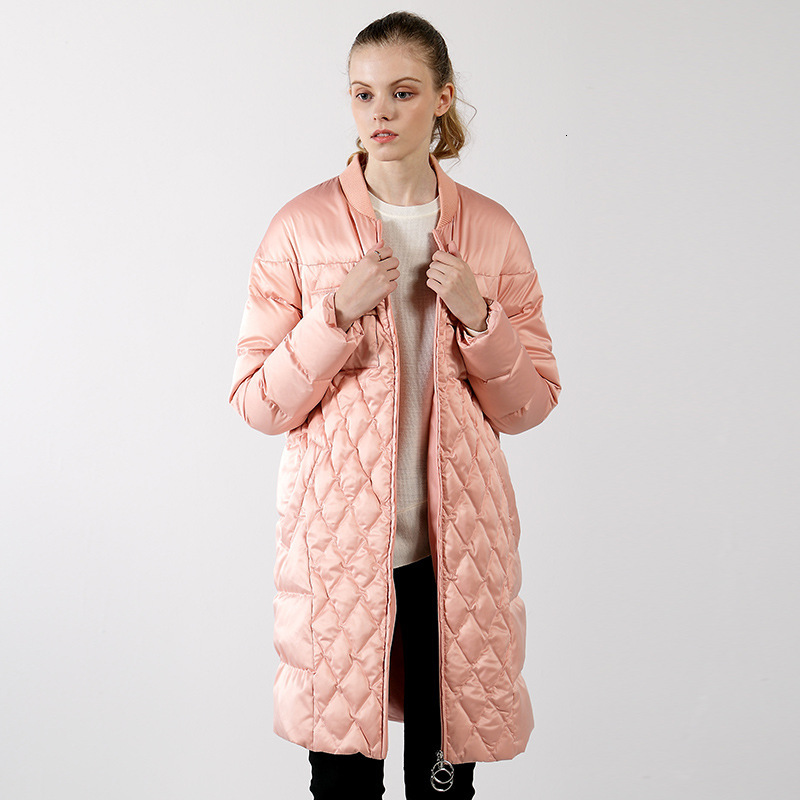Goose   Down     Down   Jackets Ma'am Leisure Time Baseball Lead Loose   Coat   Keep Warm Long Fund Suit-dress