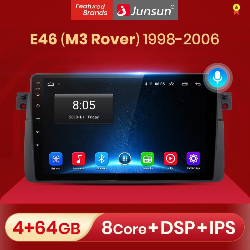 Junsun V1 Android 10.0 AI commande vocale autoradio Multimidia lecteur vidéo GPS pour BMW E46 coupé (M3 Rover) 316i 318i no 2din dvd