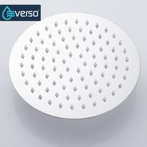 Image 4 - Round & Square Stainless Steel Showerhead  Rainfall Shower Head Rain Shower Chrome  high pressure  chuveiro  bath faucet ducha