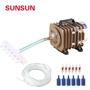 SUNSUN серии для аквариума электромагнитный воздушный компрессор воздушный насос кислорода Пруд воздушный компрессор подходит для большой а...