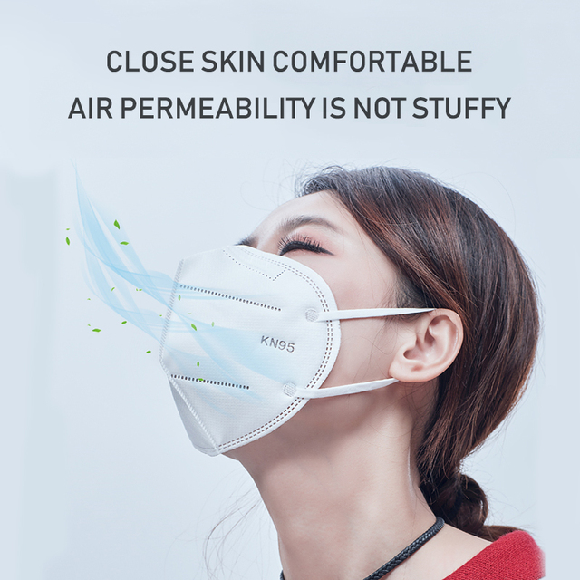 10x KN95 FFP2 Mask Protective Anti-Dust Masks Mouth Face Mask Protection N95 Level Mask 99% Filtration Anti Fog Gas Flu In Stock 1