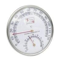 뜨거운 사우나 온도계 금속 케이스 스팀 사우나 룸 온도계 습도계 목욕 및 사우나 실내 옥외 사용