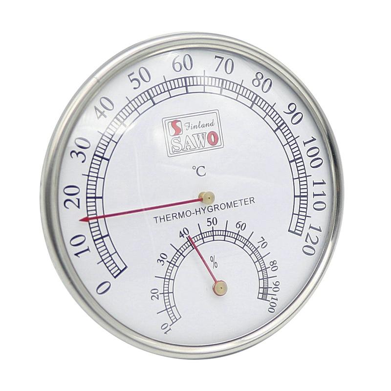 HOT-Sauna Thermometer Metal Case Steam Sauna Room Thermometer Hygrometer Bath And Sauna Indoor Outdoor Used