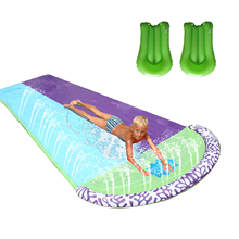 Lawn Water Slide Pools Double Giant Surf Water Slide With 2pc Aquaplane PVC Backyard Outdoor Water Games Center Toy For Kids
