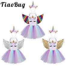 2020 filles fleur Tulle robes pour filles Tutu princesse fête robes fleur anniversaire Cosplay Halloween Costume filles vêtements