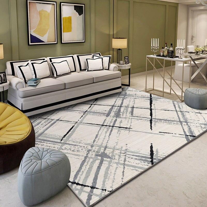 גדלים מרובים גיאומטרי סלון שטיח אזור רצפת מחצלת החלקה שטיח דקורטיבי חדר שינה מחקר שטיחים מודרני שטיחים מטבח מחצלת