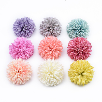 2/5/10 Pieces Ball Carnation artificial plants diy gifts candy box christmas decor for home wedding cheap artificial flowers image