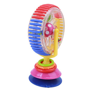 Image 3 - Baby toy plastic toys with three color rotating windmill belt sucker WJ122