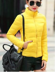 Image 4 - 겨울 여성 울트라 라이트 다운 재킷 % 95 화이트 오리 후드 자켓 긴 소매 따뜻한 코트 파카 여성 솔리드 휴대용 아웃웨어
