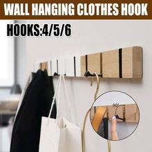 Coat Hanger Clothes-Hanger-Hooks Rack Furniture-Coat Wall-Hook Bedroom Wooden Nordic
