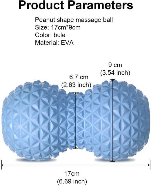 Per il Fitness Arachidi Sfera di Massaggio Doppio Rullo Lacrosse Palla in Profondità Del Tessuto Schiuma Massaggiatore per la Mano, piedi, Schiena, rilassamento muscolare 3