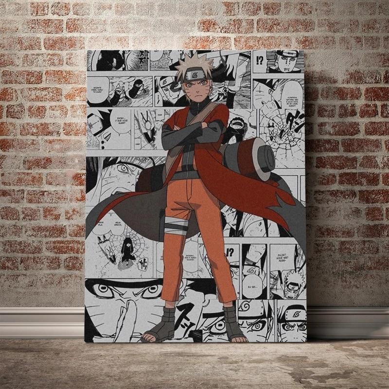 Nowoczesne dekoracje do domu płótno malarstwo Anime Naruto rola obraz plakaty i druki moda modułowy salon sypialnia grafika ścienna