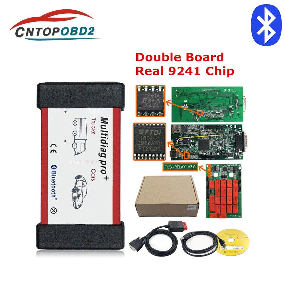 Ferramenta de Diagnóstico de caminhão 9241A OBD2 NEC Tcs Bluetooth Car Livre Keygen Multidiag Pro Duplo PCB V3.0 OBDII Auto Scanner Grátis navio