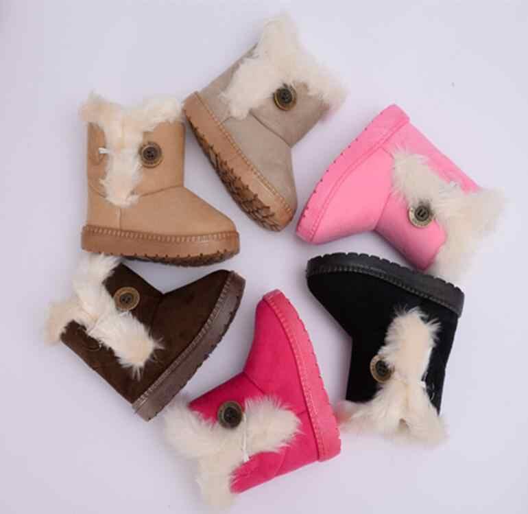 Warm Snow รองเท้าเด็กใหม่เด็กวัยหัดเดินฤดูหนาวเจ้าหญิงรองเท้าลื่นแบนรอบหญิงเด็กรองเท้าน่ารัก
