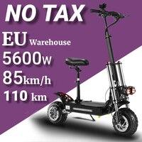 Patinete eléctrico plegable para adultos, Scooter de 11 pulgadas, con neumático ancho, Motor de accionamiento Dual de alta velocidad, Cross Country, 60v5600w