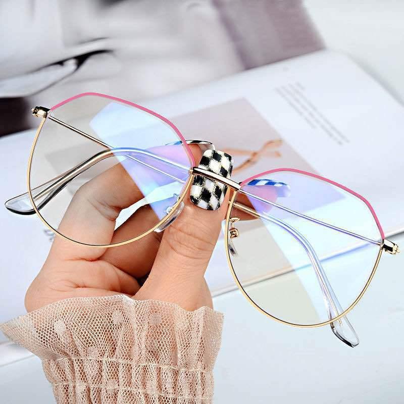 New Fashion Sexy Eyeglasses For Women Fake Glasses Alloy Spectacles Glasses Frame Retro Myopia Girls Eye Glasses