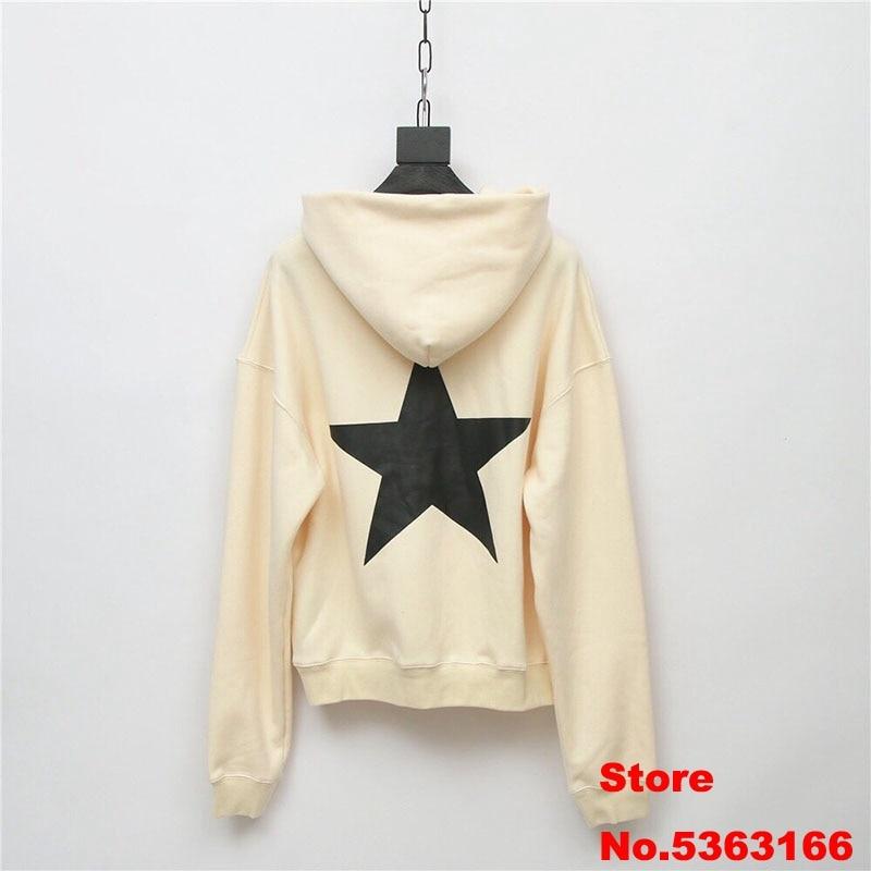 Sureme 2020 Winter New Oversized FOG ESSENTIALS Five-pointed Star Printed Hoodies Sweatshirts Men Women Thick Fleeces Hoodies